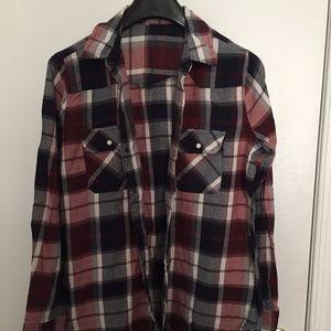Tops - Plaid Shirt
